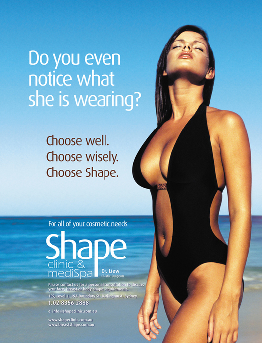 Consumer advertising for cosmetic surgery