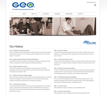 GEO Group Australia website page