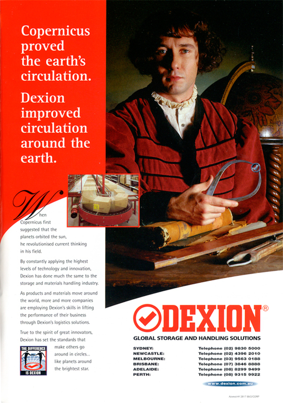 Design and art direction for Dexion Advertising